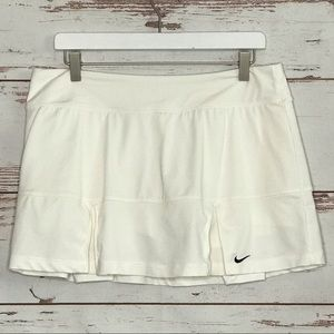 Nike Skirts - Nike Tennis Skort Dri Fit Skirt L White Pleated